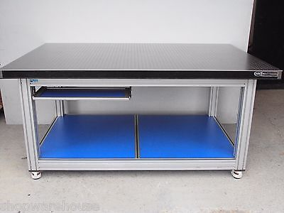NEWPORT 6' OPTICAL LAB TABLE w/ ROLL AROUND HEAVY DUTY BENCH CASTERS honeycomb