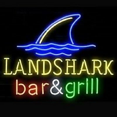"""New Landshark Lager Grill Jimmy Buffetts Bar And Grill Neon Sign 20''X16"""" Q57M"""