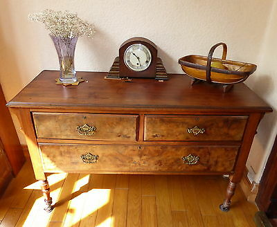 Vintage Walnut Sideboard  Chest Of Drawers