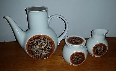 Noritake DOMINICA Younger Image vintage 1970's coffee set pot, sugar & creamer