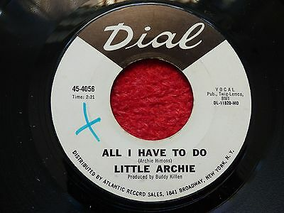 "Rare Northern Soul Wigan Torch R&b 7"" Record All I Have To Do Little Archie Wd"