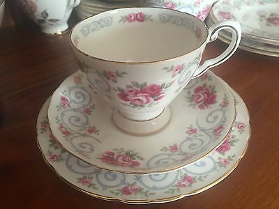 Royal Tuscan 'Antoinette' Roses Trio Cup Saucer Plate
