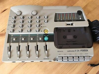 Fostex X-34 multitracker Four Track Cassette Recorder