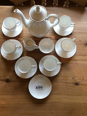 Royal Grafton 'First Love' Tea / Coffee service Complete For 6 Teapot Incl VGC