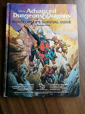 D&D book Advanced Dungeon and Dragons Dungeoneer survival guide