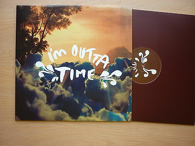 """OASIS I'm Outta Time UK promo only 12"""" single in picture sleeve RKID55TP 2008"""