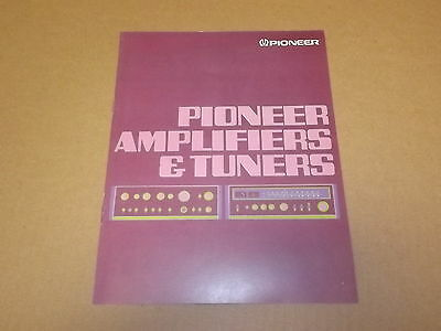 Pioneer Amplifiers and Tuners Original Brochure / Catalog