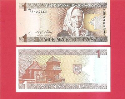 LITHUANIA p53a - 1 litas - 1994 Uncirculated