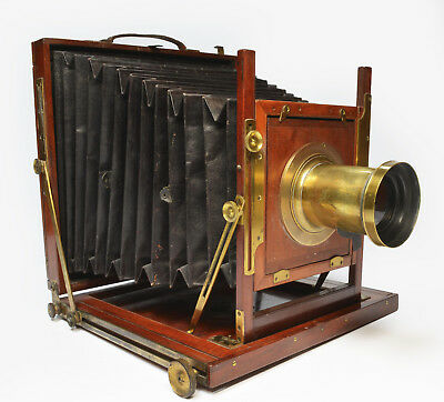 "Victorian 8""x10"" studio camera with 16.2"" Taylor Taylor Hobson RR lens & tripod"