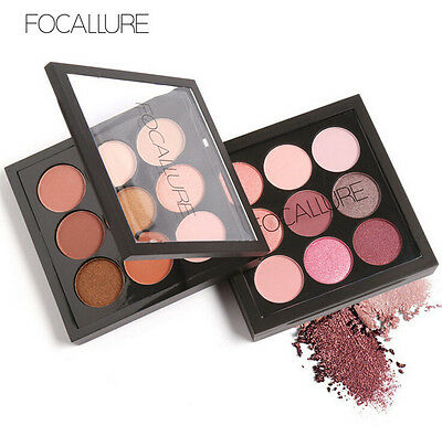 9 Colours Lady Eye Shadow Makeup Cosmetic Shimmer Matte Eyeshadow Palette Set #1