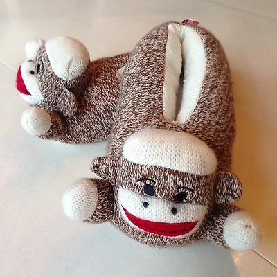 Maxx The Sock Monkey Slippers Toddler Large L