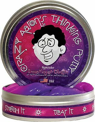 """Crazy Aaron's Thinking Putty Hypercolours - Amethyst Blush Large 4""""/10cm Tin"""