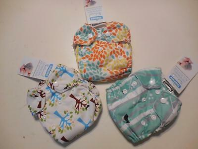 NWT THIRSTIES Newborn All-In-One Reusable Cloth Diaper Collec Woodland 5-14 lbs