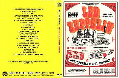 Led Zeppelin.1975. Pro - Shot. Earls Court 2Th Night. Rare. Dvd.