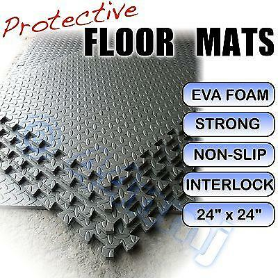 12mm Garage Gym Shed Flooring Mats DARK GREY 608 Sq Ft