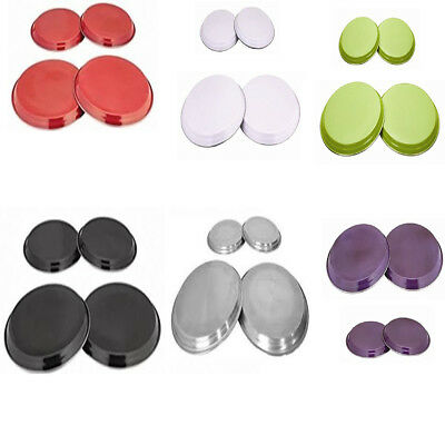 4 X Stainless Steel Reusable Hob Covers Rings Cooker Oven Metal Cover Protectors