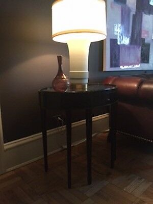 Pair Baker Barbara Barry oval end tables