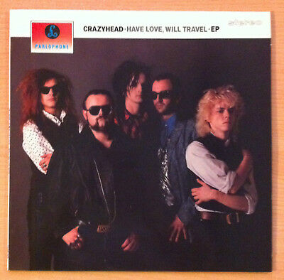 "CRAZYHEAD  "" Have Love, Will Travel ""  - Vinyl Ep 12"" -  12 SGE 2025  -  1989 UK"