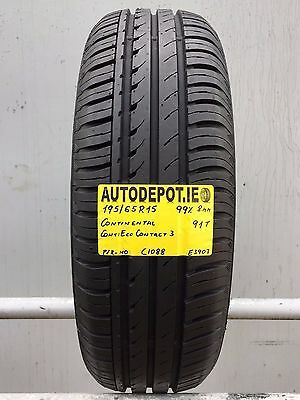 195/65R15 CONTINENTAL CONTIECO CONTACT 3 91T Part worn tyre (C1088)