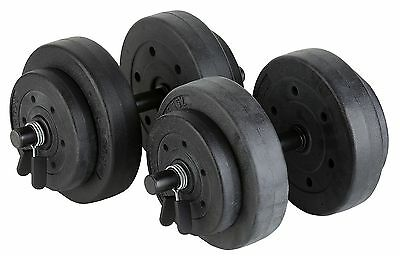 Gold Gym 40lb / 18Kg Vinyl Weight Set - Black A