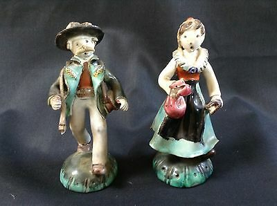 STUDIO POTTERY FIGURINES by LEOPOLD ANZENGRUBER AUSTRIA 1912-1979