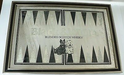 Black and White Blended Scotch Whisky Bar Mirror