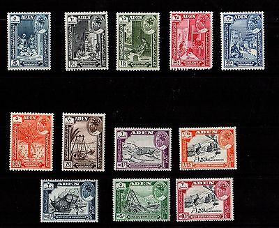 Qu'aiti State in Hadhramaut Scott #41-52 1963 Issues Mint Hinged - MNH set