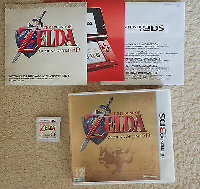 The Legend Of Zelda Ocarina of Time, Gold Case Box Edition Nintendo 3DS UK