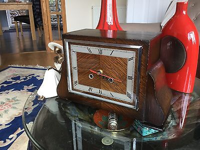 Art deco  mantle clock (is  working  New quartz movement fitted )