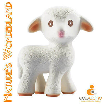 Mia the Lamb TEETHING TOY -100% Pure Natural Rubber - CaaOcho Friends Collection