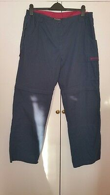 Mountain Warehouse Trek Convertible Trousers Shorts Size 16