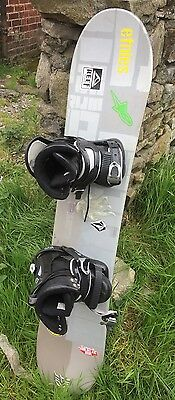 128  Jp Walker Pro Snowboard Boots &bindings New WAX AND EDGES twin