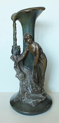 Really Huge Art Nouveau Metal Ewer Stick/umbrella Stand Lampbase Vase