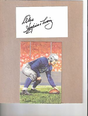 Alex Wojciechowicz Signed 3×5 Index Card w/ Goal Line Art Card- Lions and Eagles