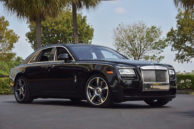 2014 Rolls-Royce Ghost 4dr Sedan '14 Rolls Royce Ghost V-Spec Pkg,593 HP,Driver's Assistance,Pano,Picnic Tables.