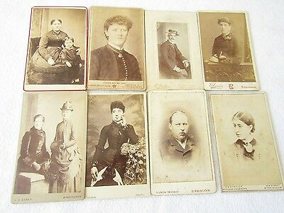 Birmingham Collection of 22 CDV Cabinet Photos Beautiful Young Ladies & Gents