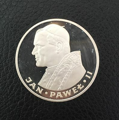 1982 Poland Silver Proof Coin 100 Zlotych Ultra Cameo Pope John Paul II