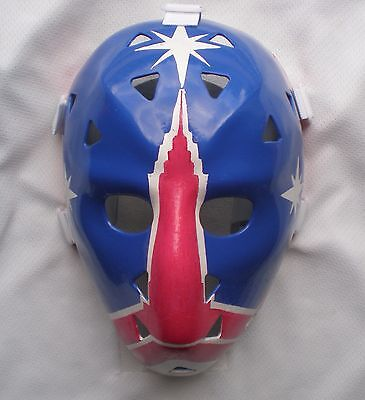 Vintage Steve Baker New York Rangers Fiberglass Nhl Hockey Goalie Mask Amazing!!
