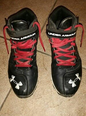 under armour high top spikes youth size 5.5
