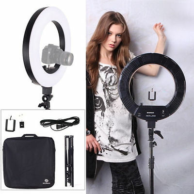 """18"""" Dimmable Photo Video Continuous Ring Light Kit Incl Stand w/ Carry Bag US"""