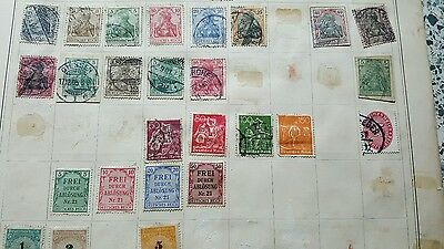Job lot of german empire stamps  x 73