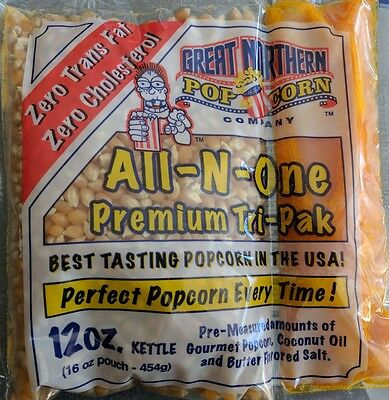 Great Northern Popcorn 12-Ounce Portion Packs (Pack of 6)