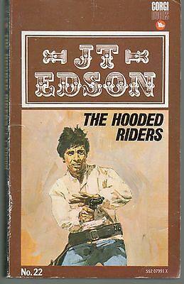 J T Edson No.22 The Hooded Riders 1968 Corgi First Edition Paperback