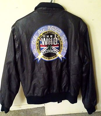 THE WHO - 1989 25th Anniversary Embroidered LEATHER TOUR JACKET