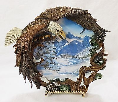 The hamilton collection winter solstice plate four seasons of the eagle 1996