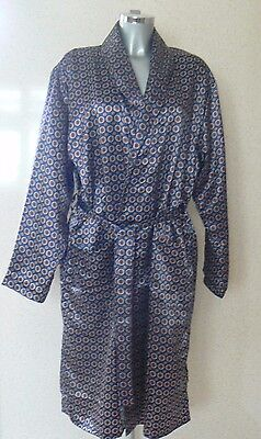VINTAGE HARVEY JAMES PAISLEY PATTERN SILKY DRESSING GOWN Size L NEW