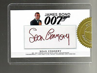 James Bond Archives Final Edition Sean Connery Autographed card