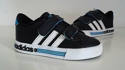 Boy's Adidas NEO Label DAILY TEAM Black & White Trainers, Size UK 9 Infant.