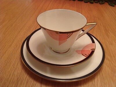 Royal Doulton Tango  Art deco - Trio of Tea Cup, Saucer and Side Plate