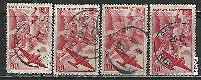 #7616 FRANCE Sc#C19 Airmail Used Lot of 5